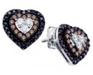 Ladies Diamond Heart Earrings 14K White Gold 0.50 cts. GD-59146