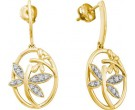 Diamond Fashion Earrings 10K Yellow Gold 0.12 cts. GD-60592