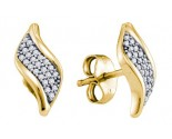 Diamond Fashion Earrings 10K Yellow Gold 0.15 cts. GD-64988