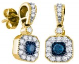 Blue Diamond Fashion Earrings 10K Yellow Gold 0.66 cts. GD-65761