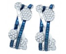 Blue Diamond Fashion Earrings 10K White Gold 0.56 cts. GD-81933
