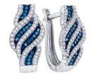 Blue Diamond Fashion Earrings 10K White Gold 0.33 cts. GD-84124