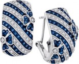 Diamond Fashion Earrings 10K White Gold 0.50 cts. GD-85787