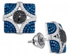 Blue Diamond Fashion Earrings 10K White Gold 0.85 cts. GD-86416