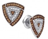 Ladies Diamond Fashion Earrings 10K White Gold 0.30 cts. GD-87064