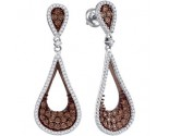 Ladies Diamond Fashion Earrings 10K White Gold 1.00 ct. GD-87065