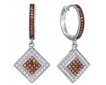 Ladies Diamond Fashion Earrings 10K White Gold 0.50 cts. GD-87067