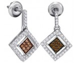 Ladies Diamond Fashion Earrings 10K White Gold 0.50 cts. GD-87068