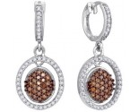 Ladies Diamond Fashion Earrings 10K White Gold 0.75 cts. GD-87069