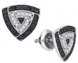 Black Diamond Fashion Earrings 10K White Gold 0.50 cts. GD-87237