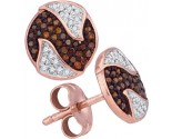 Ladies Diamond Fashion Earrings 10K Rose Gold 0.21 cts. GD-88346