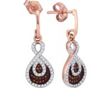 Ladies Diamond Fashion Earrings 10K Rose Gold 0.40 cts. GD-88373