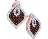 Ladies Diamond Fashion Earrings 10K Rose Gold 0.40 cts. GD-88404