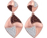 Ladies Diamond Fashion Earrings 10K Rose Gold 0.33 cts. GD-88423