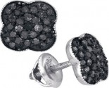Black Diamond Fashion Earrings 10K White Gold 0.50 cts. GD-88816