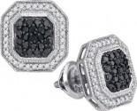 Black Diamond Fashion Earrings 10K White Gold 0.50 cts. GD-88857