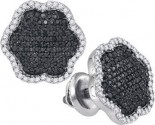 Black Diamond Fashion Earrings 10K White Gold 0.50 cts. GD-88877