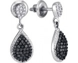 Black Diamond Fashion Earrings 10K White Gold 0.50 cts. GD-88900