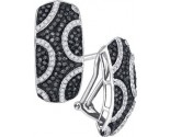 Black Diamond Fashion Earrings 10K White Gold 0.75 cts. GD-88907