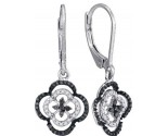 Black Diamond Fashion Earrings 10K White Gold 0.35 cts. GD-88919