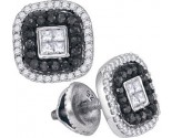 Black Diamond Fashion Earrings 10K White Gold 0.50 cts. GD-88933