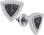 Black Diamond Fashion Earrings 10K White Gold 0.50 cts. GD-88939
