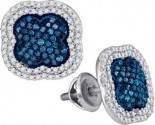 Diamond Fashion Earrings 10K White Gold 0.75 cts. GD-88958