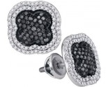 Black Diamond Fashion Earrings 10K White Gold 0.75 cts. GD-88964