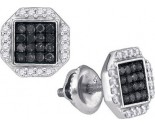 Black Diamond Fashion Earrings 10K White Gold 0.40 cts. GD-88976