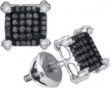 Black Diamond Fashion Earrings 10K White Gold 0.25 cts. GD-88985
