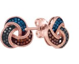 Ladies Diamond Fashion Earrings 10K Rose Gold 0.20 cts. GD-89965