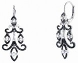 Ladies Diamond Earrings 14K White Gold 1.55 cts. S24-4