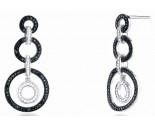 Ladies Diamond Fashion Earrings 14K White Gold 0.95 cts. S24-6