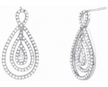 Diamond Fashion Earrings 14K White Gold 1.90 cts. S29-10