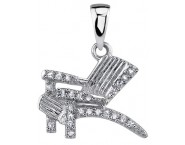 Diamond Beach Chair Pendant 14K White Gold 0.10 cts. DZ-30381