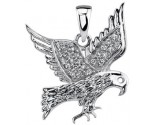 Diamond Eagle Pendant 14K White Gold 0.10 cts. DZ-30389