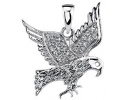 Diamond Eagle Pendant 14K White Gold 0.10 cts. DZ-30389 [DZ-30389]