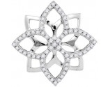 Diamond Flower Fashion Pendant 10K White Gold 0.35 cts. GD-103992