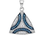 Blue Diamond Fashion Pendant 10K White Gold 0.33 cts. GD-104337