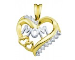 Diamond Fashion Mom Pendant 10K Yellow Gold 0.10 cts. GD-18423