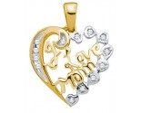 Diamond Fashion Mom Pendant 10K Yellow Gold 0.12 cts. GD-19402