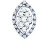 Diamond Cluster Pendant 14K White Gold 0.50 cts. GD-44338
