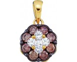 Chocolate Diamond Pendant 14K Yellow Gold 0.50 cts. GD-47113