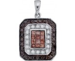Diamond Fashion Pendant 14K White Gold 0.75 cts. GD-47270