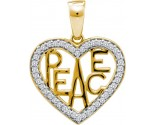 Diamond Fashion Peace Pendant 10K Yellow Gold 0.15 cts. GD-55602