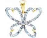 Diamond Fashion Pendant 10K Yellow Gold 0.41 cts. GD-55755