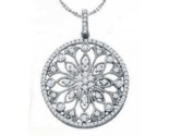 Diamond Fashion Pendant 10K White Gold 0.48 cts. GD-57419