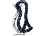 Black Diamond Penguin Pendant 10K White Gold 0.16 cts. GD-57479