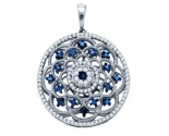 Diamond Fashion Pendant 10K White Gold 0.50 cts. GD-65881