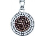 Brown Diamond Fashion Pendant 10K White Gold 0.54 cts. GD-72066